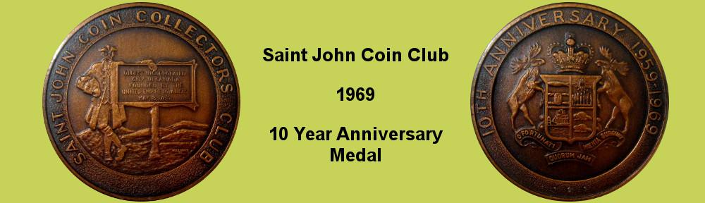 Saint John Coin Club 1969 Medal